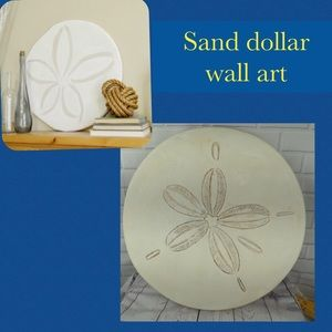 Sand dollar wall plaque hanging art nautical